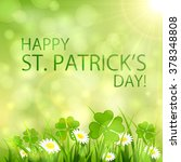 sunny patrick's day background...   Shutterstock . vector #378348808