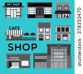 shop collection of different... | Shutterstock .eps vector #378353470