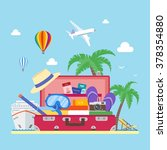 travel concept vector... | Shutterstock .eps vector #378354880
