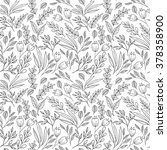 floral seamless pattern with... | Shutterstock .eps vector #378358900