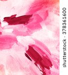 white and pink acrylic paint... | Shutterstock . vector #378361600