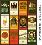 beer labels set with shamrock... | Shutterstock .eps vector #378362563