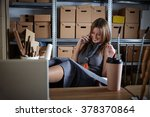architect woman in office... | Shutterstock . vector #378370864