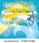 summer time background with... | Shutterstock .eps vector #378373780