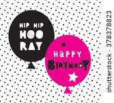 hand lettering birthday... | Shutterstock .eps vector #378378823