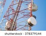 satellite dish telecom tower on ...   Shutterstock . vector #378379144