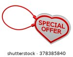 heart tag special offer ... | Shutterstock . vector #378385840