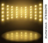 vector stage yellow lights.... | Shutterstock .eps vector #378386098