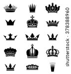 set of 15 crowns isolated on... | Shutterstock .eps vector #378388960