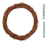 wreath woven from the branches... | Shutterstock . vector #378389563
