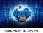 word www is wrapped in front of ... | Shutterstock . vector #378392596