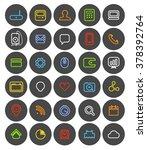 different simple web navigation ... | Shutterstock .eps vector #378392764