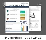 vector business flyer  brochure ... | Shutterstock .eps vector #378412423