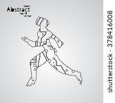 sport circuit board running man ... | Shutterstock .eps vector #378416008