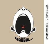 scream emotions patience ran... | Shutterstock .eps vector #378418636