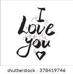 i love you inscription....   Shutterstock .eps vector #378419746