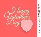 valentines day vintage... | Shutterstock . vector #378422920
