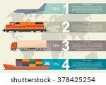 freight transportation info... | Shutterstock .eps vector #378425254