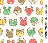 seamless regular pattern with... | Shutterstock .eps vector #378432856