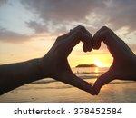 sunset at beach | Shutterstock . vector #378452584