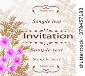invitation or wedding card with ...   Shutterstock .eps vector #378457183