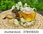 Jasmine Green Tea In A Glass...