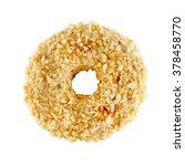 white chocolate donut sprinkled ... | Shutterstock . vector #378458770