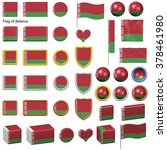 3d shapes containing the flag... | Shutterstock . vector #378461980