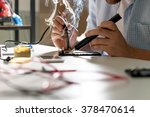 mobile phone repair | Shutterstock . vector #378470614