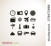 travel icons set | Shutterstock .eps vector #378472888