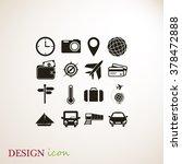 travel icons set | Shutterstock .eps vector #378472888