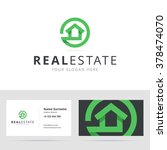 real estate logo and business... | Shutterstock .eps vector #378474070