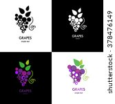 grapes icon. grapes wine or... | Shutterstock .eps vector #378476149