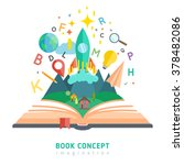 book concept with flat...   Shutterstock .eps vector #378482086