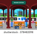 Railway Station With Locomotiv...
