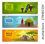 africa horizontal cartoon... | Shutterstock .eps vector #378482104
