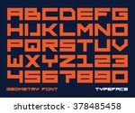 square contemporary monospaced... | Shutterstock .eps vector #378485458