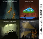 speleologists descent into the...   Shutterstock .eps vector #378488149