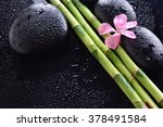 Pink Flower With Black Stones...