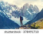 hike in patagonia | Shutterstock . vector #378491710