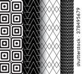 set of 4 monochrome elegant... | Shutterstock .eps vector #378495679
