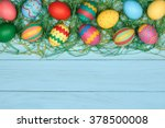 Easter Eggs Background. Hand...