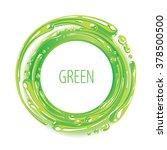Green Color Ink Circle Splash...