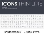 education thin line icons | Shutterstock .eps vector #378511996