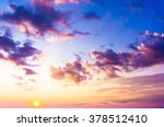 Stock photo setting sun sunset in the sky 378512410