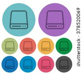color hard disk drive flat icon ...