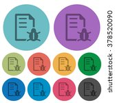 color bug report flat icon set...