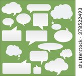blank empty white speech... | Shutterstock .eps vector #378522493