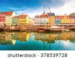 nyhavn  kopenhagen  | Shutterstock . vector #378539728