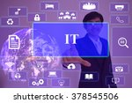 it consultant concept ... | Shutterstock . vector #378545506